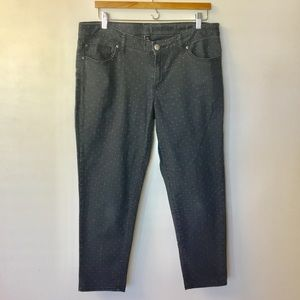 Gap Premium Super Skinny Ankle Polka Dot Jeans 14